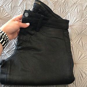 Joe's Jeans Skinny black coated jeans